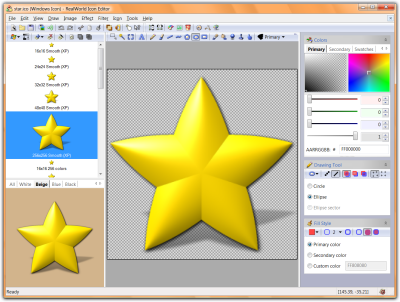Click to view RealWorld Designer - Icon Editor 1.2.2005.0417 screenshot