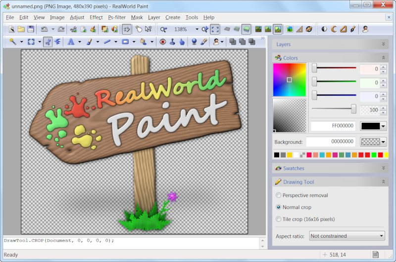 Click to view Latest RealWorld Paint installer 4.2.32 screenshot