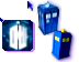 Doctor Who Tardis, Dalek, Doctor