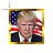 32px_Trump_with_flag_framed.ani Preview