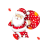 Santa Sparkly Diag Resize Left.ani Preview