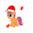 Scootaloo in Santa Hat My Little Pony Diag Resize Right.ani Preview