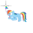 Rainbow Dash My Little Pony Normal Select Preview