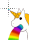 Unicorn Pukes Rainbow normal select.ani Preview