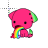 Cute Critter Pukes A Rainbow text select.ani Preview