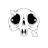 skull animated diagonal resize left.ani Preview