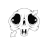 skull animated diagonal resize right.ani Preview