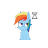 Rainbow Dash Working In Background.ani Preview