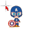 Captain America Caricature normal select.ani Preview
