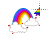Rainbow with Clouds Alt Left Select.ani Preview