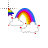 Rainbow with Clouds Normal Select.ani Preview