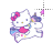 Hello Kitty on Unicorn alt left select.ani Preview