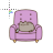 cat on chair normal select.ani Preview