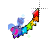 Rainbow Cursor Trail with unicorn Alt left select.ani Preview
