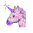 glittery unicorn head normal select.ani Preview