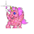 pink glittery unicorn normal select.ani Preview