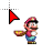 Mario With Cape Feather Running.ani Preview