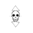 8-bit skull vertical resize.ani Preview