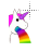 pink maned unicorn pukes a rainbow alt left select.ani Preview