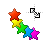 rainbow stars diag resize right.ani Preview