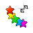 rainbow stars diag resize left.ani Preview