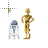 R2d2 & C3p0 normal select.ani Preview
