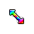 Rainbow Arrow Diagonal Resize Right.ani Preview