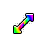 Rainbow Arrow Diagonal Resize Left.ani Preview