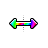 Rainbow Arrow horizontal resize.ani Preview