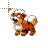 Growlithe Pokémon 8-bit normal select.ani Preview