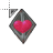 pyramid head heart bling left select.ani Preview