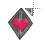 pyramid head heart bling normal select.ani Preview