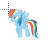 rainbow dash normal select.ani Preview