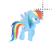 rainbow dash left select.ani Preview