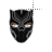 Black Panther fire eyes mask left select.ani Preview