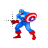 Captain America with shield normal select.ani Preview