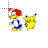 Woody Woodpecker & Pikachu normal select.ani Preview