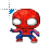 Spiderman 8-bit normal select.ani Preview