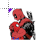 Spiderman & Deadpool kiss normal select.ani Preview