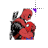 Spiderman & Deadpool kiss left select.ani Preview