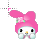 My Melody Hello Kitty normal select.ani Preview