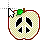 Peace symbol normal select.ani Preview