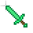 Minecraft Teal Sword (Animated).ani Preview