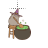 Pusheen Witch Cat left select.ani Preview