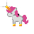 Pink Unicorn Cursor Help.ani Preview