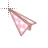 Vertical Resize  Paper Plane Pink.ani Preview