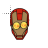 Iron Man mask fire II normal select.ani Preview