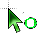 Green load cursor.ani Preview
