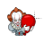 Pennywise gif left select.ani Preview