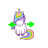 Unicorn horizontal resize.ani Preview